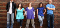 """Lewis, Hilly, Lucy, Megan and Sam all have intellectual disabilities and live together in Brighton, England. They are featured in a new series called """"The Specials"""" airing on the Oprah Winfrey Network. (KADA Media/OWN)"""